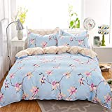GAW Home Fashion 100% Cotton 3-Piece Duvet Cover Bedding Set, Twin/Full,Quilt Cover(160cm*210cm*1),Sheet(160cm*230cm*1),Pillowcase(48*74Cm*1)