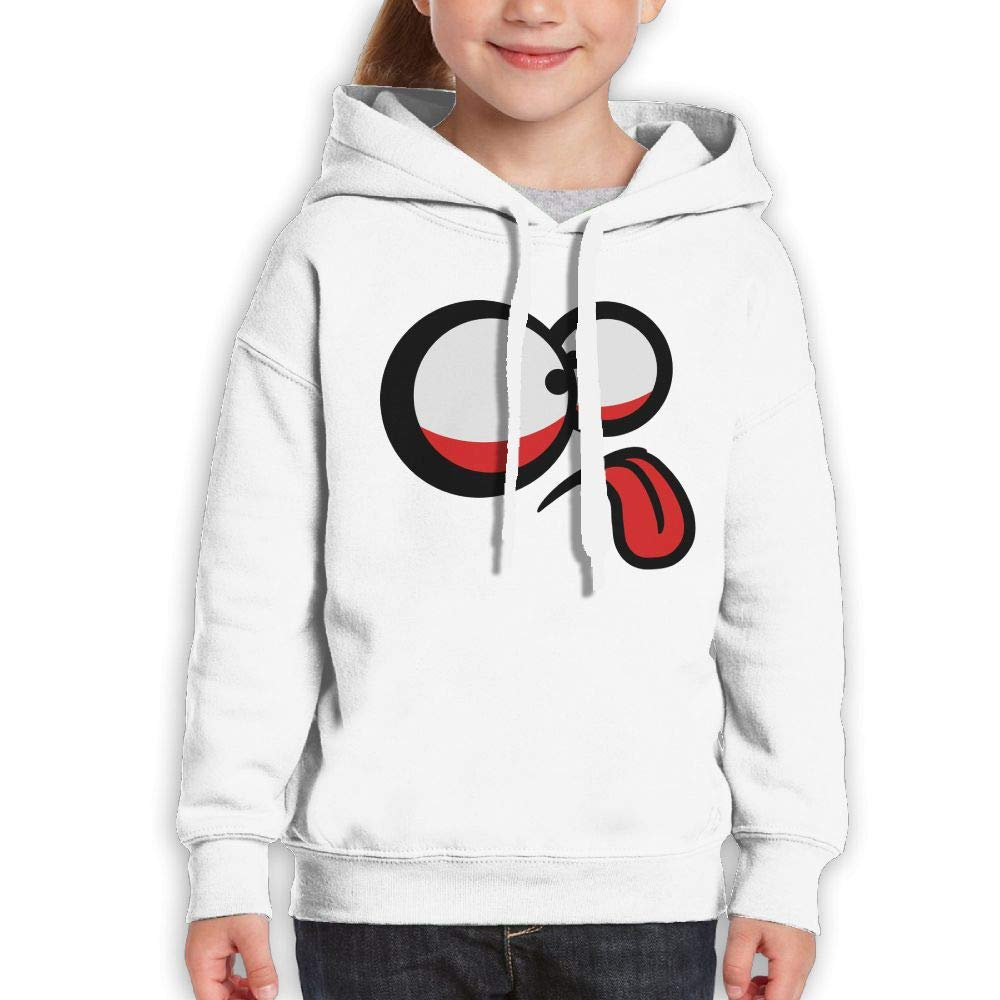 Qiop Nee Crazy Size Eyes Tongue Unisex Hoodies Print Long Sleeve Sweatshirt Girls'