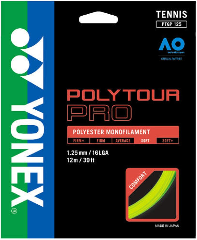 YONEX Poly Tour Pro Flash Yellow Tennis String