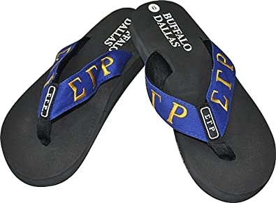 e7d3098e534 Buffalo Dallas Sigma Gamma Rho Sorority Ladies Thong-Style Flip Flop Sandals   Black