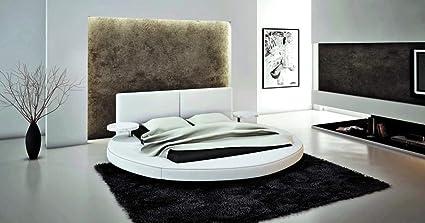 Amazon Com Vig Furniture 383b Modern Round Queen Bed Kitchen Dining
