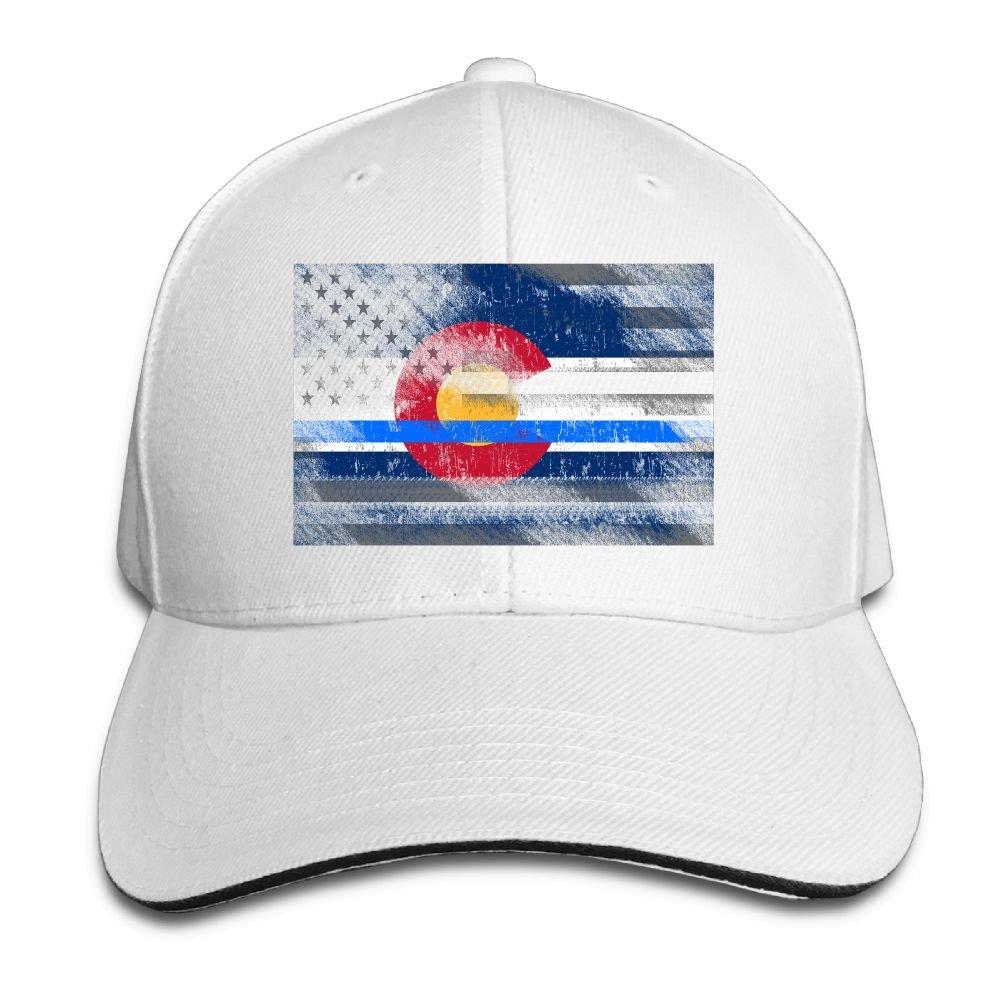 RSUD WESR Colorado Thin Blue Line Flag 100/% Cotton Hat Men Women Adjustable Baseball Cap Hat