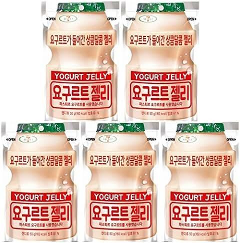 LOTTE YOGURT JELLY GUMMY CANDY (50g) - YOGURT Flavored x 5 ea (Product of Korea)