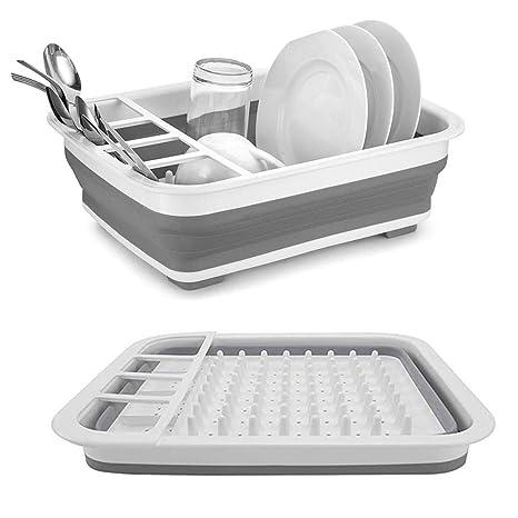 Amazon.com: Estante de almacenamiento para platos de secado ...