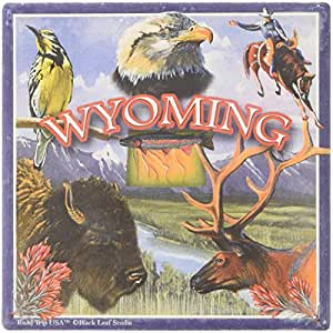 """CoasterStone SQ067 Absorbent Coasters, 4-1/4-Inch, """"Wyoming"""", Set of 4"""