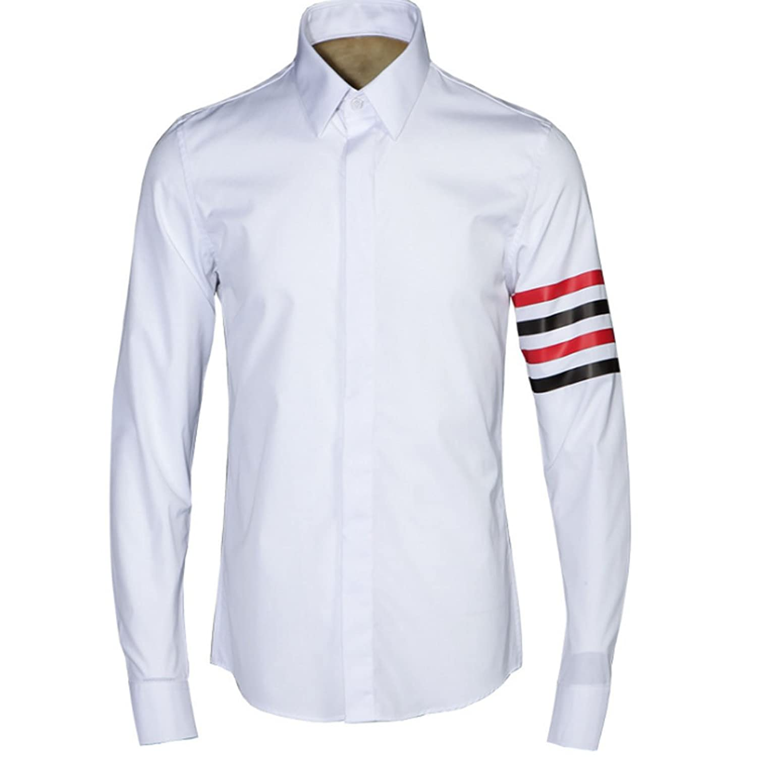 Youth New Craft Red And Black Stripes Classic Shirt Male