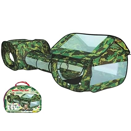 Snatchcz 3 En 1 Tienda De Campaña De Camuflaje Tunnel Shuttle Toy Impermeable Baby Playhouse Kids