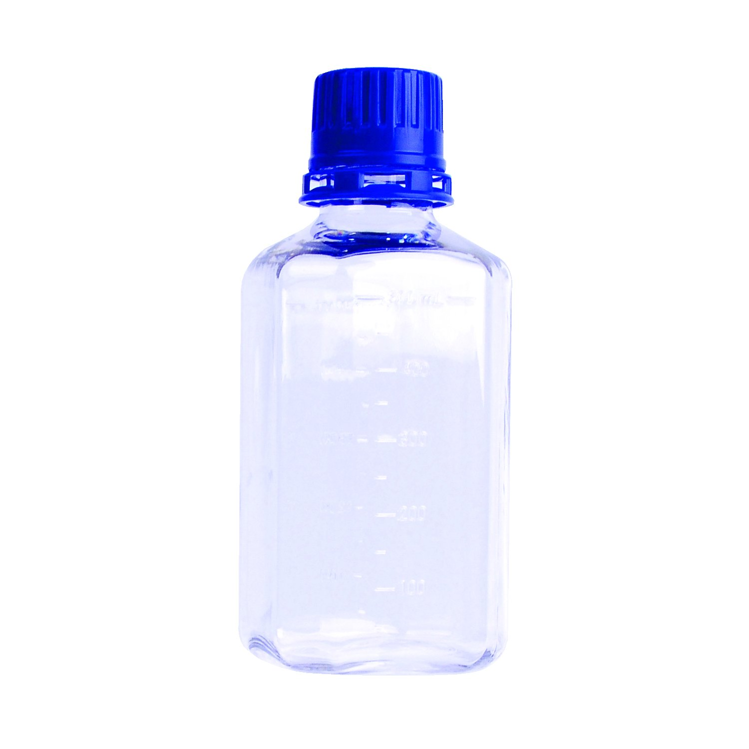 Pack of 12 Wheaton WPBGC0500S Square Media Bottle with Tamper Evident Cap PETG 500 ml