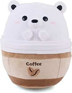 Avocatt Polar Bear Coffee Plushie - 10 Inches Stuffed Bear Ice Frappuccino Plush Stuffed Animal - Hug and Cuddle with Soft Fabric and Stuffing - Kawaii Cute Japanese Anime Style Gift