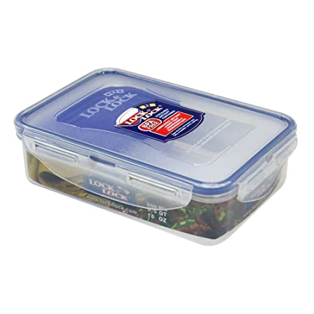Lock&Lock Classics Rectangular Food Container with Sauce Case, 550ml Jars & Containers at amazon