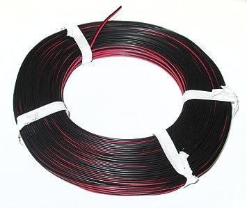 50m Kabel Litze Zwillingslitze 2x0,14mm² Rot//Schwarz Doppellitze 50 Meter Ring
