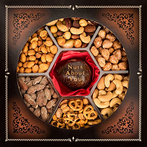 Jaybee's Nuts Gift Basket Great Gift for Valentines Day, Anniversary, I love You, Birthday Gift or Just Because For Him, Her, Men, Women, Mom & Dad