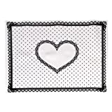 Susenstone Silicon Lace Polka Dot Heart Pattern Nail Art Table Mat Pad Manicure Clean (white)