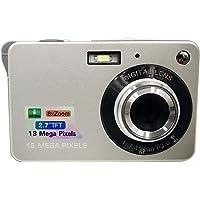 "Eachbid Mini Digital Camera 18MP 2.7"" TFT 8X Zoom 1280 X 720 HD Anti-Shake Digital Video Camera+ Extra Battery + USB Cable+Camera Pouch+ Wrist Strap+User Manual,Sliver"