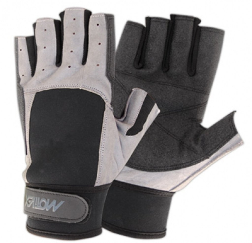 MOTIVEX segelhandschuhe arrière noir/gris néoprène tous doigt courte, ultra adhérent