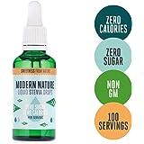 Modern Nature Stevia Drops 50ml - Liquid Stevia Sweetener - Zero Calories Zero Sugar - Stevia Leaf Sweetener