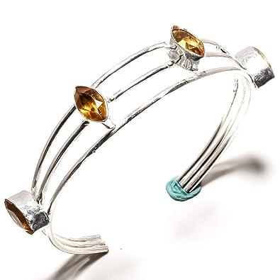 New Silver Plated Amber Cuff Bracelet Bangel Jewelry Jewelry & Watches