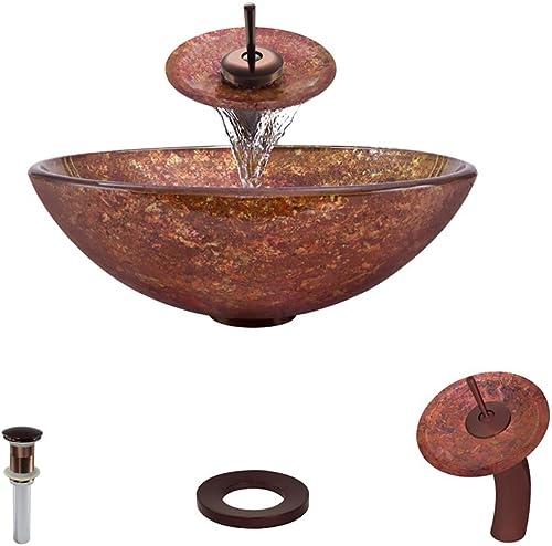 639 Oil Rubbed Bronze Waterfall Faucet Bathroom Ensemble