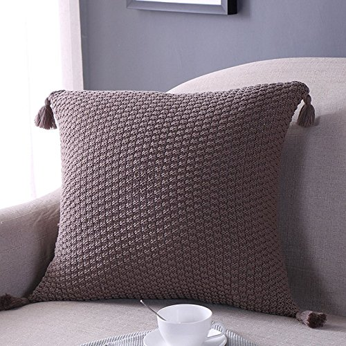 Square Nordic Style Tassel Cushion Seat Back Cushion Case Pillowcases Home Bedroom office Textiles Bedding Colors: ()