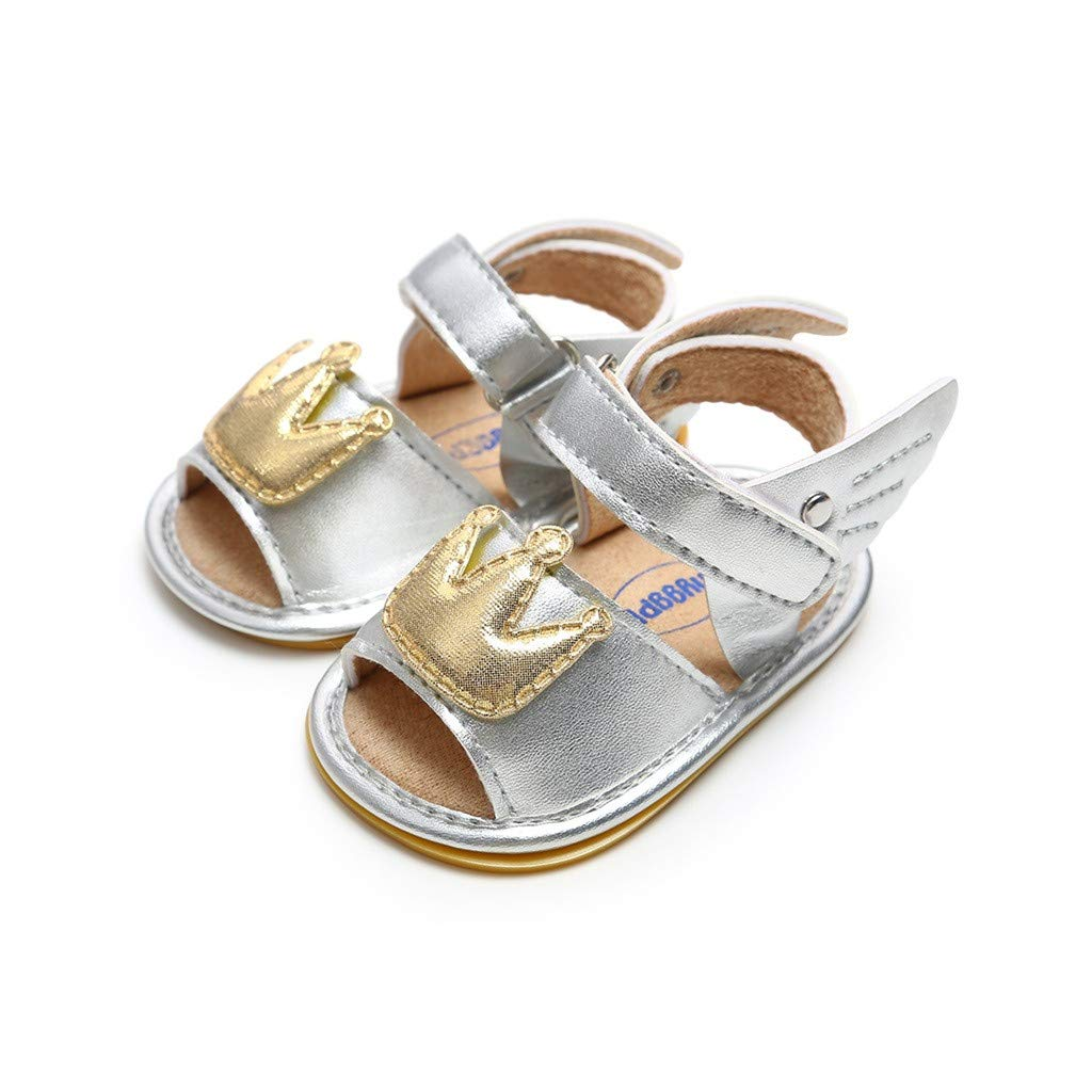 Kimanli Baby Girls Cuty Crown Wing Hood/&Loop Fashion Toddler First Walkers Kid Shoes