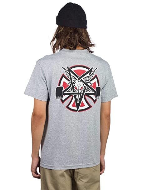 051e7e7eac17 Independent X Thrasher Collab Pentegram Cross Short Sleeve T-Shirt Small Athletic  Heather