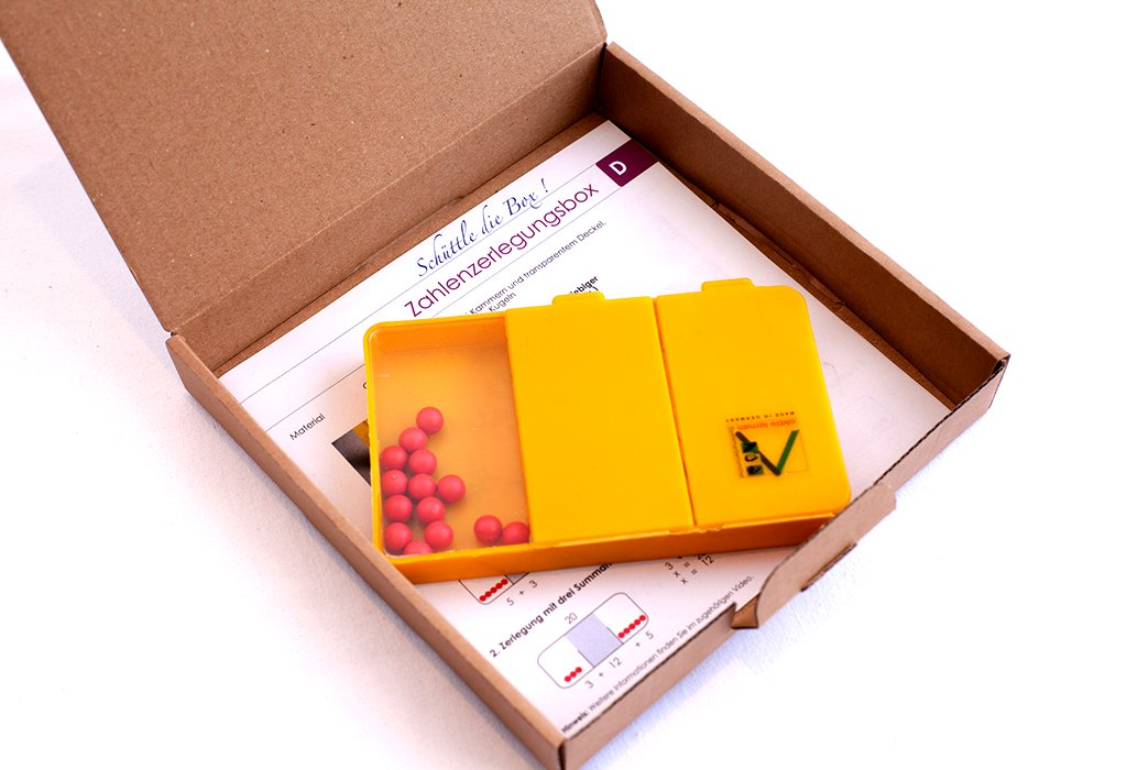 spielend aktiv lernen! Zahlenzerlegungsbox 20 roten Kugeln im Karton Wissner GmbH