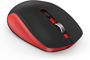 Wireless Mouse, seenda 2.4G Wireless Computer Mouse with Nano Receiver 3 Adjustable DPI Levels, Portable Mobile Optical Mice for Laptop, PC, Chromebook, Computer, Notebook (Red & Black)
