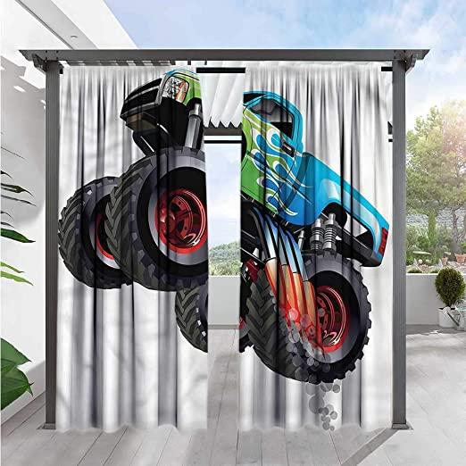 Cortina para Puerta corredera de Coches Mini Retro Vehículo en Carretera de eficiencia energética, oscurecimiento: Amazon.es: Jardín