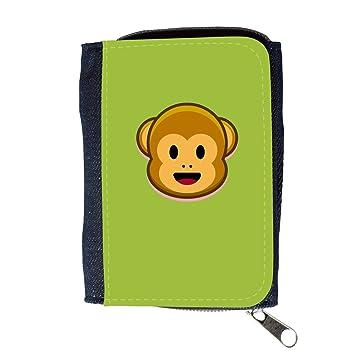 Cartera para hombre // Q05210603 Monos emoji 1 Android Verde // Purse Wallet: Amazon.es: Electrónica