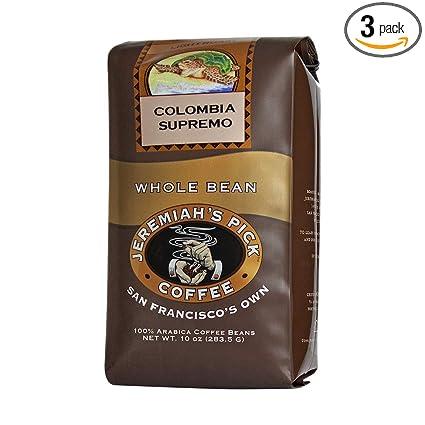 Jeremiah del Pick Café Supremo decaf grano de Colombia, 10 ...