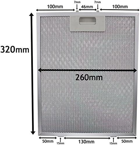 Spares2go Malla Metálica Filtro para teka campana extractora/extractor ventilación (plata, 320 x 260 mm): Amazon.es: Hogar