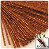 The Crafts Outlet Chenille Sparkly Stems, Pipe Cleaner, 20-in (50-cm), 1000-pc, Copper