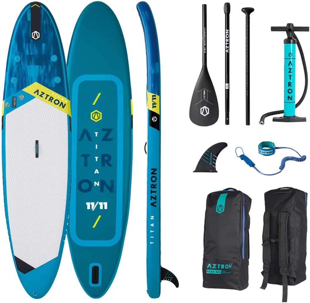 Aztron Titan All Around Inflatable SUP Board 11 11 incl. Adjustable Aluminum Paddle and Leash
