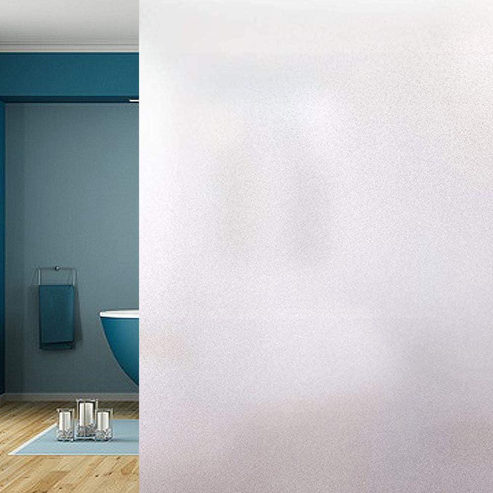 Funlifly Película de la Ventana Película de Vidrio Esmerilado autoadhesiva Película Protectora Opaca Adhesivo estático Anti-UV para la Oficina Sala de Estar Dormitorio Matt 90 x 200 cm: Amazon.es: Hogar