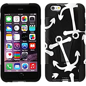 Trek Hybrid Stand Case for Apple iPhone 6 - Anchors White on Black