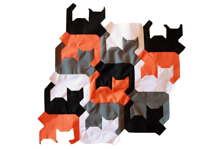 Tessepatch cat patchwork template