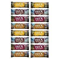 Mixed Flavours - Trek Protein Energy Bar 55g - No Added Sugar, Gluten & Wheat Free Snack (Pack of 16)