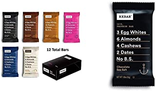 product image for RXBAR, Best Seller Variety Pack, Protein Bar, 1.83 Ounce (Pack of 12) Breakfast Bar, High Protein Snack with Chocolate Sea Salt, Protein Bar, High Protein Snack