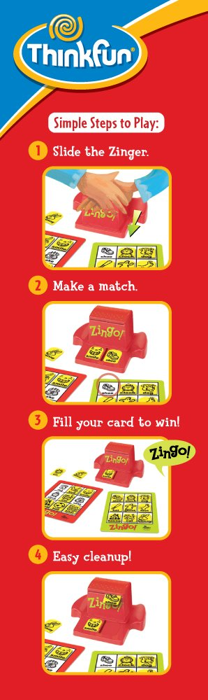 ThinkFun Zingo Bingo Award Winning Game for Pre-Readers and Early Readers Age 4 and Up by Think Fun (Image #4)