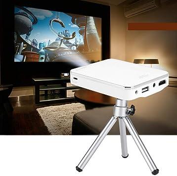 Opinión sobre Proyector Portatil, Mini WiFi Proyector con Entrada HDMI para Teléfonos Laptop PC Blanco 100-240V(EU Plug)