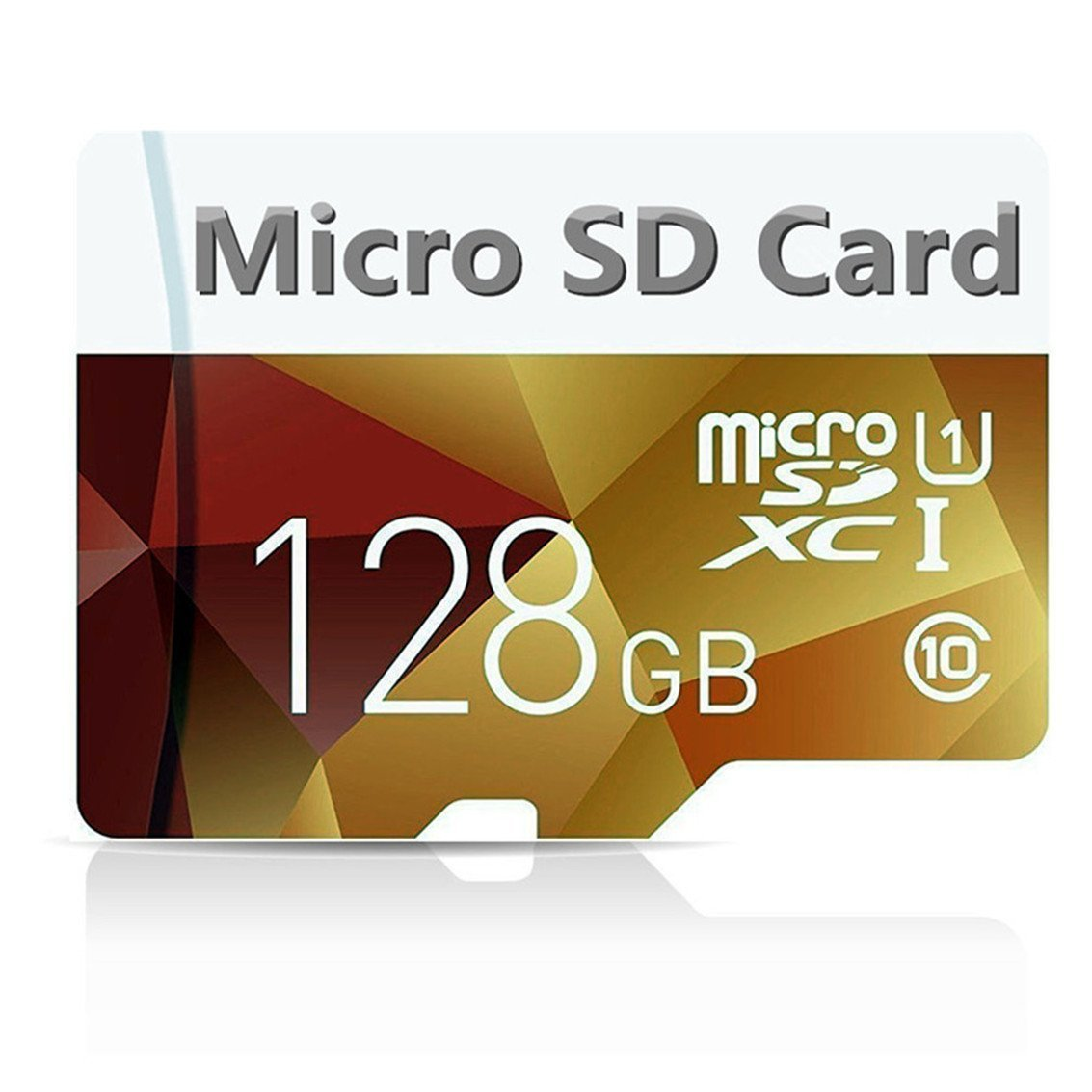128GB Micro SD Card High Speed Class 10 Micro SD SDXC Card with Adapter (128GB gold)