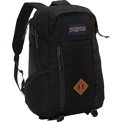 a1c8f9213d JanSport Mens Outside Mainstream Foxhole Backpack - Black   18H x 11.5W x 8D