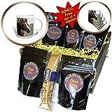 3dRose TDSwhite – Horse Equine Photos - Arabian Horse Pasture - Coffee Gift Baskets - Coffee Gift Basket (cgb_285452_1)