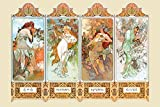 The Four Seasons by Alphonse Mucha - Poster 24 x 36 inches