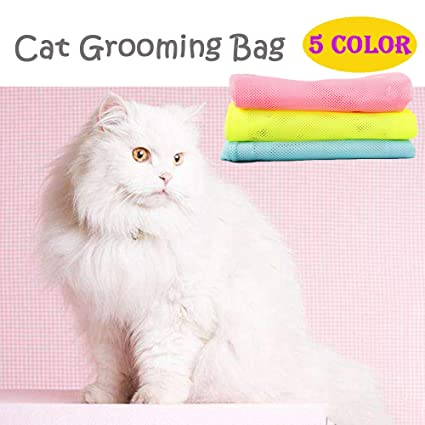 Cat Grooming Bag Easy to Use Keep Cats Safe in Bathing, Trimming, Feeding,  Pet Supply Good Kit for Pet Groomer, No Scratching Tears Any More