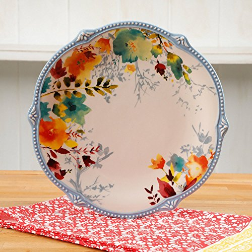 Pioneer Woman Willow Plates 10.75 Dinner Plate 4 Pieces Set Dish Set (3) ()