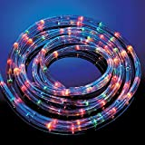 Lights Rope Christmas Party White Xmas Multicolour Clear Flexible 20 25 30 Meter (Multi-Colour, 25 Meters)