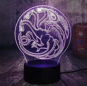 Luces De Noche 3D Lámpara De Mesa LED Stark Power Game Canción De ...