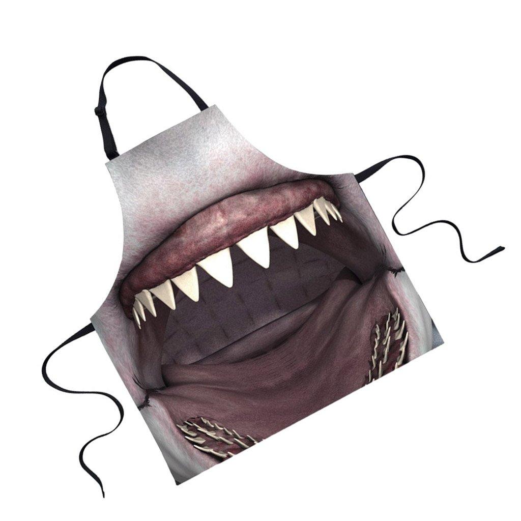 Jili Online Funny Animal Printed Aprons for Men Party Animal Baking Kitchen Chefs Gift - Shark