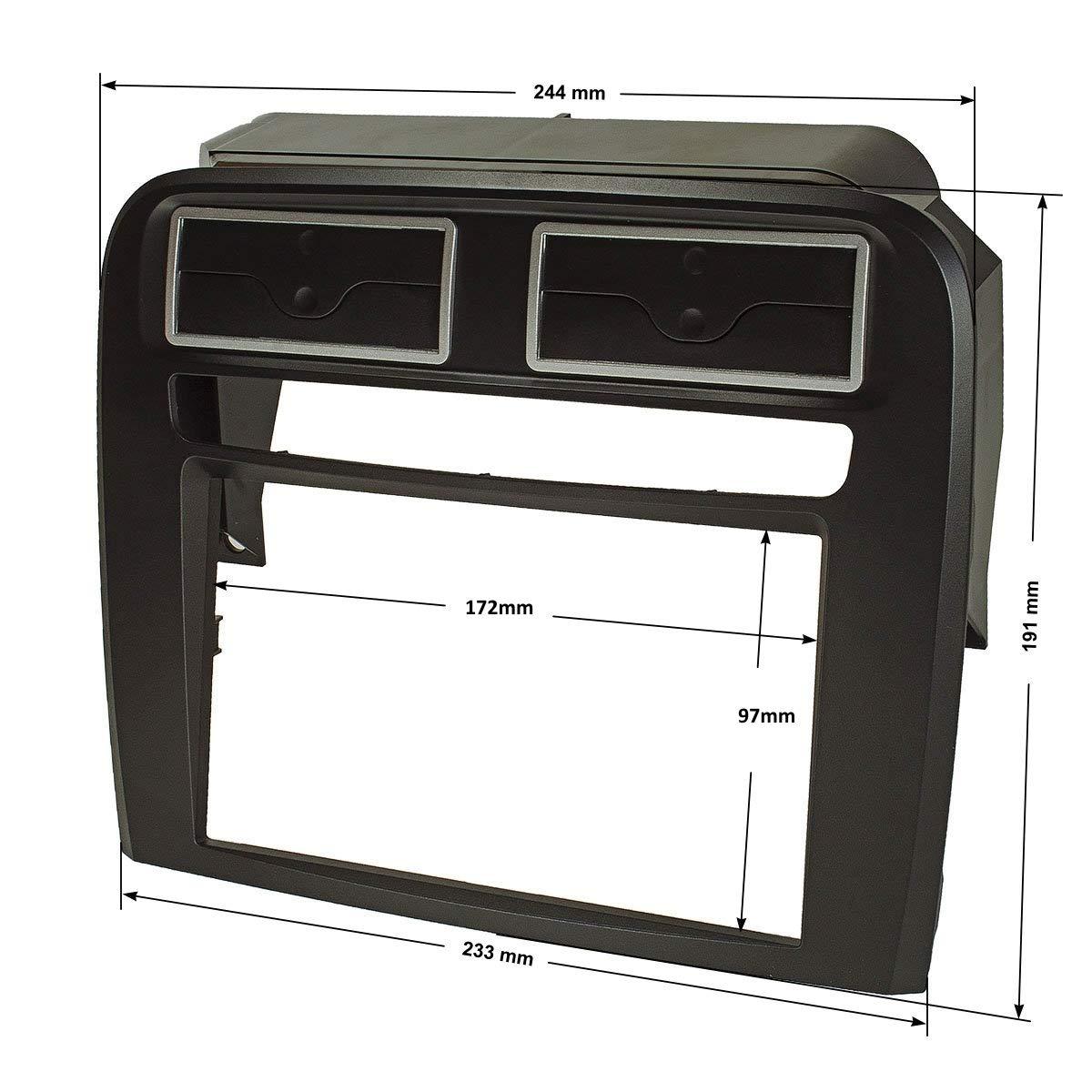 Tomzz 2414/Audio Double DIN Facia Adaptor for Fiat Grande Punto 199/2005-2009, Black